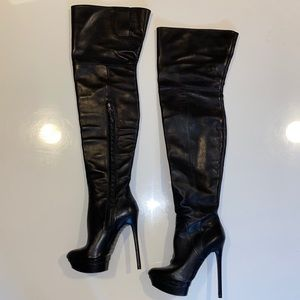B Brian Atwood Thigh High Stiletto Boots